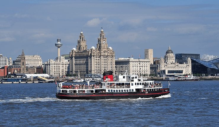 The Mersey Ferry on the River