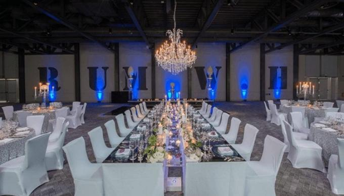 Long tables dressed