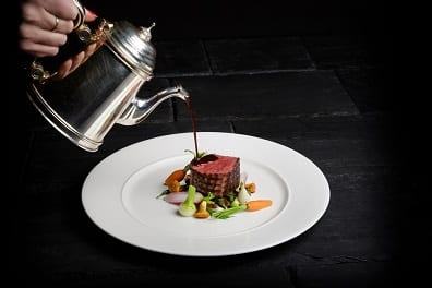 Perthshire chargrilled beef fillet with sweet potato gratin