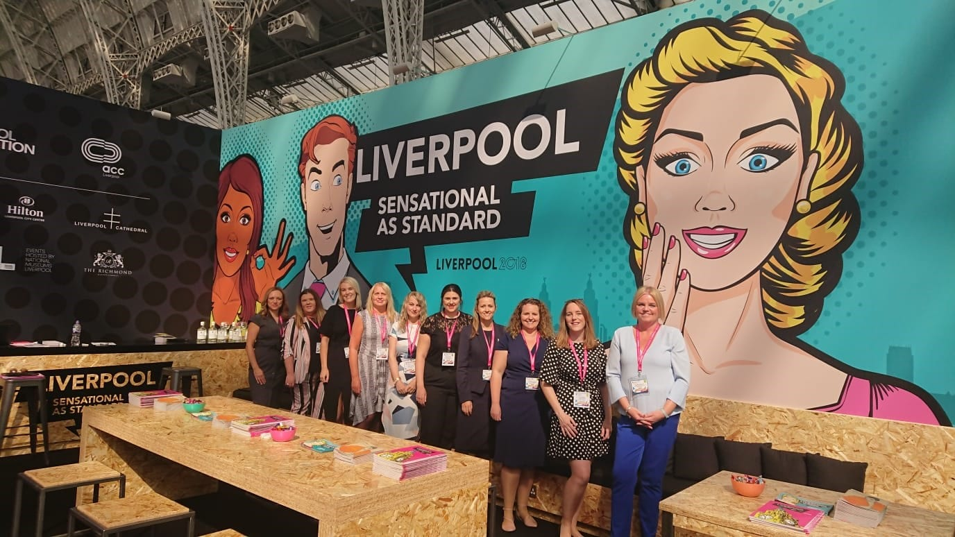 success for liverpool convention bureau and partners at the meetings show liverpool. Black Bedroom Furniture Sets. Home Design Ideas