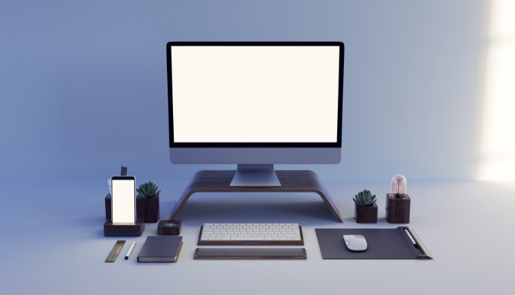 A very tidy and modern work desk